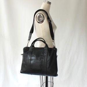 Jack Spade Davis Leather Brief Case Messenger Bag